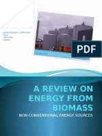 A Review on Energy From Biomass(