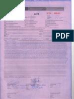 REPORTE DE OCURRENCIA N° 04-001287 DEL 10.01.17 NO CONTAR CON EQUIPOS E INSTRUMENTOS DE PESAJE