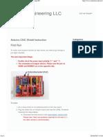 CNC Shield Instructions