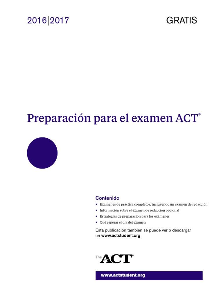 preparing for the act spanishpdf
