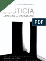 Michael Sandel (2011) Justicia. utilitarismo.- Hacemos Lo Que Debemos. Madrid, Debate.