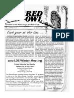 1st Quarter 2010 Barred Owl Newsletters Baton Rouge Audubon Society