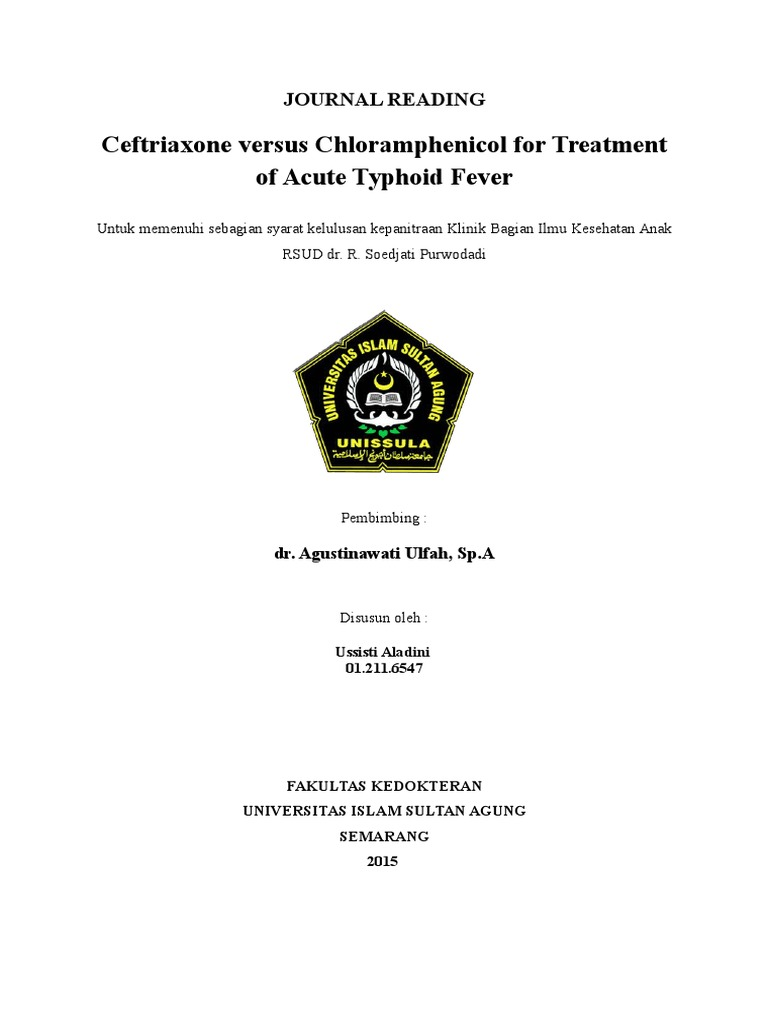 Chloramphenicol Dosage In Typhoid Fever