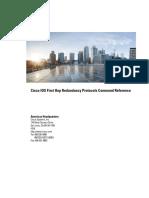 Cisco IOS First Hop Redundancy Protocols Command Reference