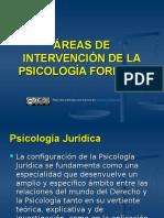 Áreas de Intervencion de La Psicologia Forense