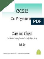 CSC2212 Lab Six ClassObject
