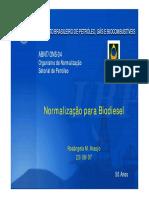 Normalização Para Biodiesel