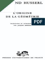 1962. Derrida, J. L Origine de Geometrie.