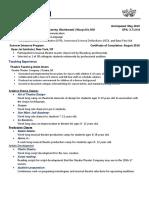 brady reed teaching resume