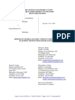 Kauffman v GE - Defendant's Brief in Opposition to Summary Judgment