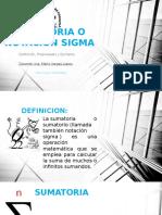 Sumatoria o Notacion Sigma
