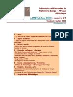 LAMPEA-Doc 2010 – numéro 23 / Vendredi 2 juillet 2010