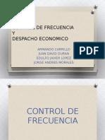 Control De Frecuencia y Despacho Economico.pptx