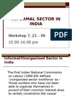 060615 Workshop 7 Informal India