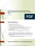 Pengembangan Asesmen Berbicara Autentik Bahasa Indonesia Untuk Penutur Revised