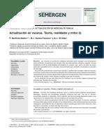 Actualización en Vacunas. Teoría, Realidades y Mitos (I)