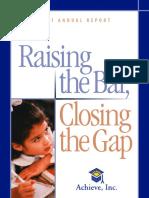 Achieve's 2001 Annual Report