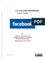 Facebook for College Professors