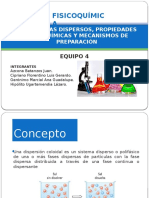 4.4 SISTEMAS DISPERSOS, PROPIEDADES FISICOQUÍMICAS Y MECANISMOS DE PREPARACIÓN
