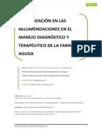 Actualización en Las Recomendaciones en El Manejo Diagnóstico y t