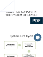 (5) Logistics in the System Life Cycle