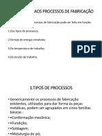 Apresentação processos metalurgicos