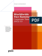 PwC WWTS - Corporate Taxes 2012-13