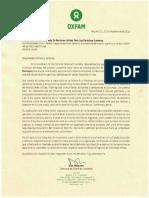 Oxfam Carta Apoyo Candidatura ONU AdrianaRuiz Restrep