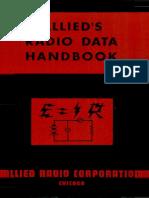 Allied Radio Data Handbook 1943