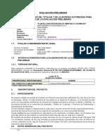 Evaluacion Preliminar Planta Concentradora 2