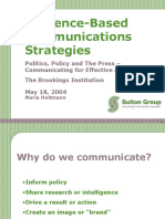 Audience based Communication Strategies