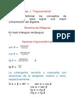 Cap. 1 Trigonometría