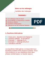 Notions Sur Les Mélanges