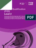 AQA - BAF DIPLOMA - PQ SPEC 09 - LEVEL 2