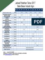 Jadwal Pelatihan 2017