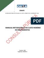 Sinapi Manual Metodologico de Equipamentos v002