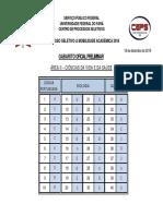 Gabarito Oficial Preliminar - Area II - Ciencias Da Vida e Da Saude
