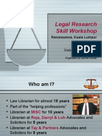 Legal Research Skills Workshop 2013 - Presentation