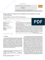 Exergy Analysis of Underground Coal Gasification With Simultaneous Storage of CO2