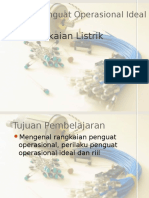 Penguat Operasional - Sifat Ideal Dan Riil