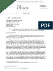 Arnold Porter Letter 01.25.17