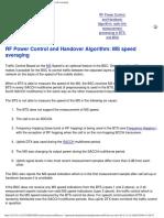 RF Power Control and Handover Algorithm_ MS Speed Averaging