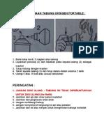 Cara Penggunaan Tabung Oksigen Portable