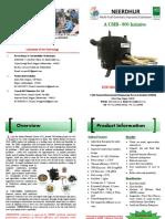 NEERDHUR Multi-fuel Improved Cookstove Brochure - English