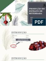 Produção de Extrato de Beterraba (1)