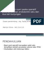 Laporan Kasus Endodontik PSA gigi 36 ( Teknik Crown Down )