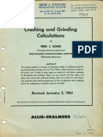Crushing and Grinding Calculations by Bond