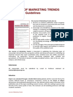 Submission Guidelines Journal of Marketing Trends 2010 0