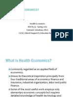 Health Economics Introduction