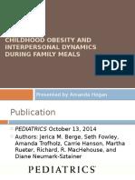 amanda hogan journal presentation - childhood obesity and family meals